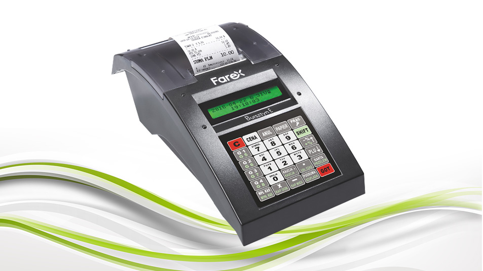 Farex Bursztyn E Plus - funkcjonalna i niedroga kasa fiskalna
